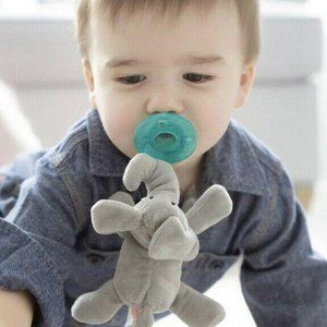 WUBBANUB ELEPHANT PACIFIER GRAY NEW!